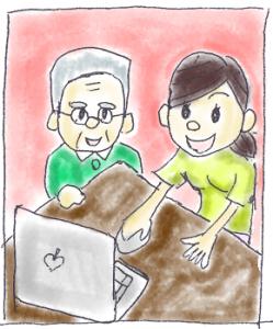 福祉サービス制度申請書ダウンロードイラスト